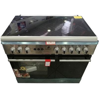 Eurolux Cuisinière à gaz 5 foyers -Allumage Automatique et Manuel - 12 mois de garantie