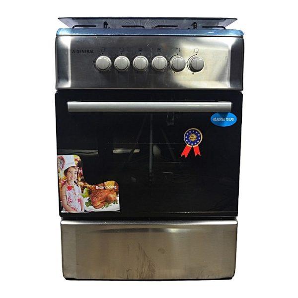 A-GENERAL Cuisinière à gaz - 4 foyers - Dimensions 60cmX60cm -12mois de garantie