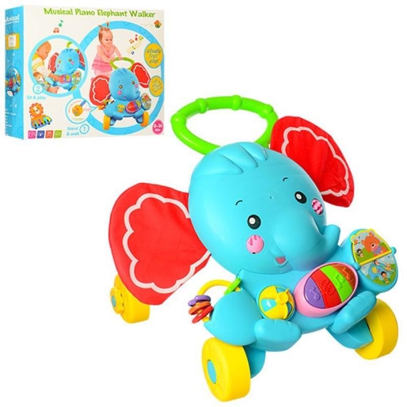 Trotinette Elephant - Piano musical - Jeux interactifs -Pour Enfants de 0 à 3ans