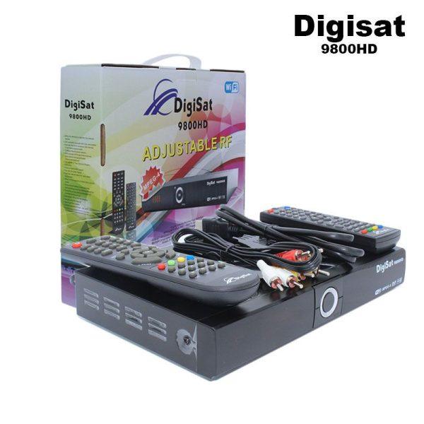 DigiSat Décodeur - TNT -WiFi-9800HD- couleur Noir - Sans abonnement -1an Garantie