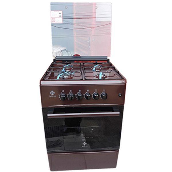 Belle Vie 4 Foyers -Cuisinière à Gaz - Dimensions 60cmX60cm - Allumage Automatique - Couleur Chocolat-12 Mois Garantie