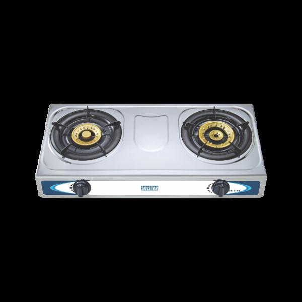 Plaque à Gaz INOX -Allumage automatique 2 foyers - Neuf - 6 Mois Garantie