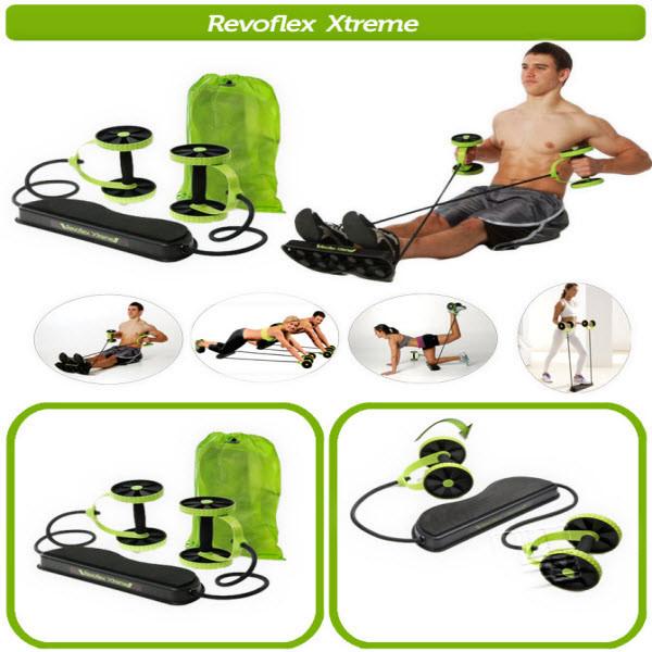 REVOFLEX EXTREME - ABS Multifonction Pour Fitness Abdominale - Hommes Et Femme - Vert Et Noir