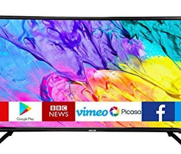 "OSCAR 43"" Smart Led Tv - FullHD- Android Décodeur/Régulateur de tension intégrés- Noir - Neuf 1 an Garantie"