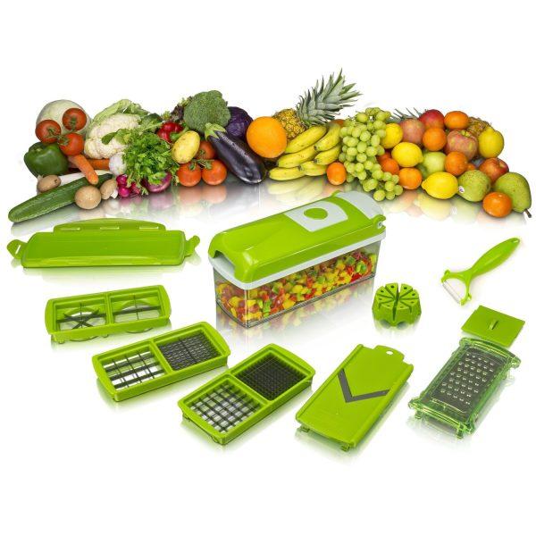 Nicer Dicer Plus - Découpe légumes - Découpe fruits - Couleur Verte - Etat Neuf