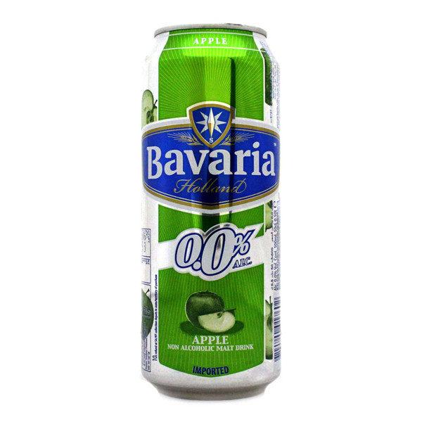BAVARIA 0% Alcool - 50cl - 24 Canettes - Saveur Pomme