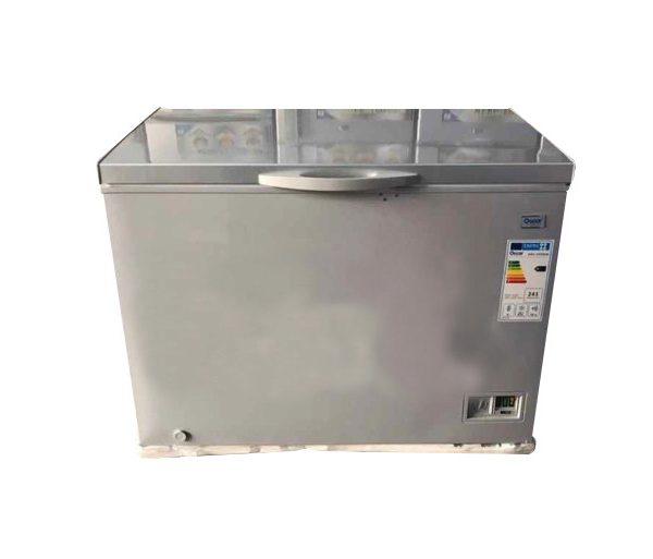 OSCAR 300L Congelateur Coffre OSC CF295S - couleur Argent- Neuf 1 an Garantie