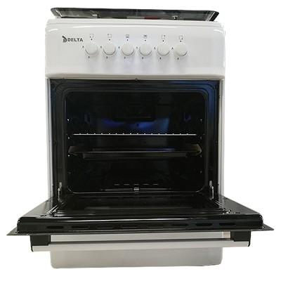 DELTA-Cuisinière à Gaz - 4 Foyers 50x60 - Inox recouvert d'émail- 12mois de garantie