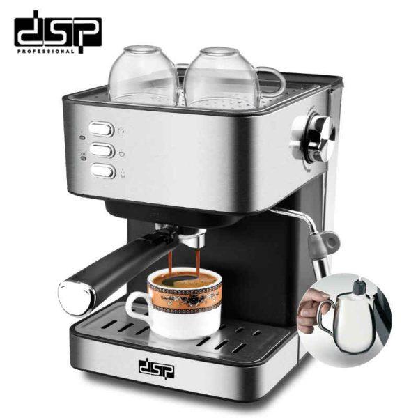 DSP Professional KA3028- Machine à Espresso 850W - Acier Inoxydable - Neuf 1 an Garantie