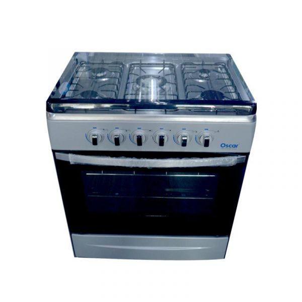 OSCAR - Cuisinière à gaz - 5 Foyers - dimensions 90X70xm Four avec grill - Allumage manuel - Neuf 1 an Garantie