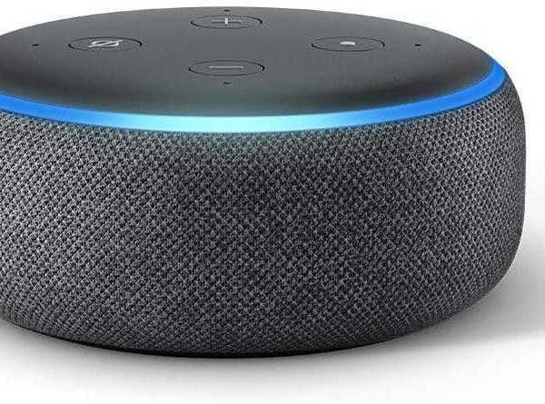 Echo Dot (3ème génération), Enceinte connectée avec Alexa, Tissu anthracite - Neuf 1 an Garantie