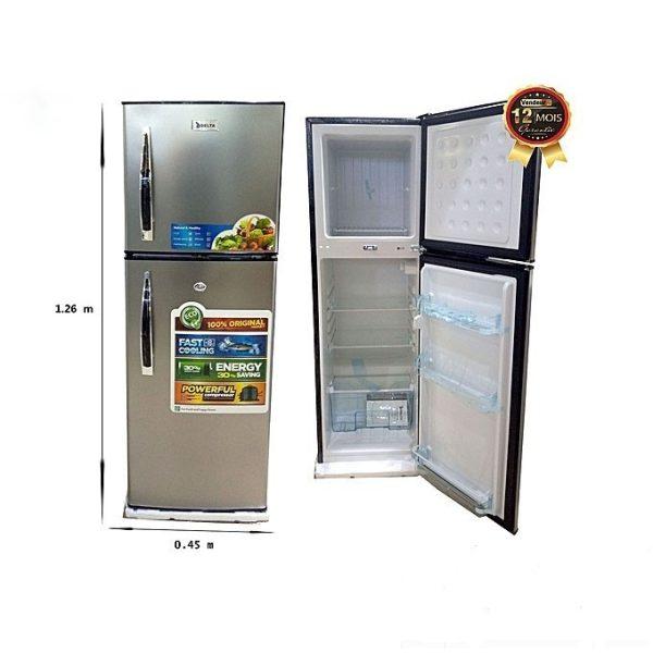 DELTA -150L-Réfrigérateur Combiné Double Portes DRF150 -Neuf 1 An Garantie