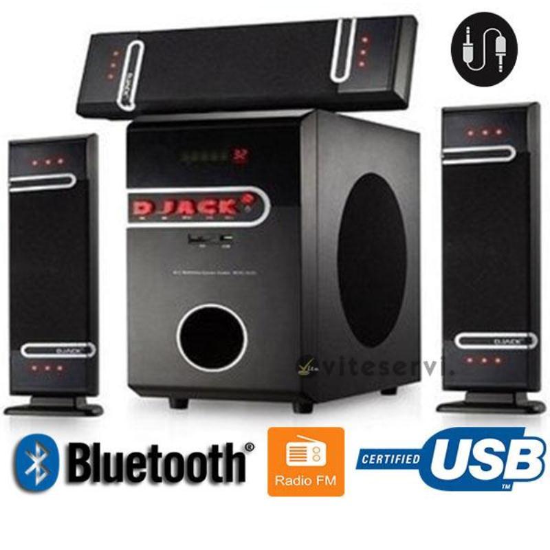 DJACK DJ-D3L - Woofer - Bluetooth Original -USB – AUX- Neuf 1 An Garantie