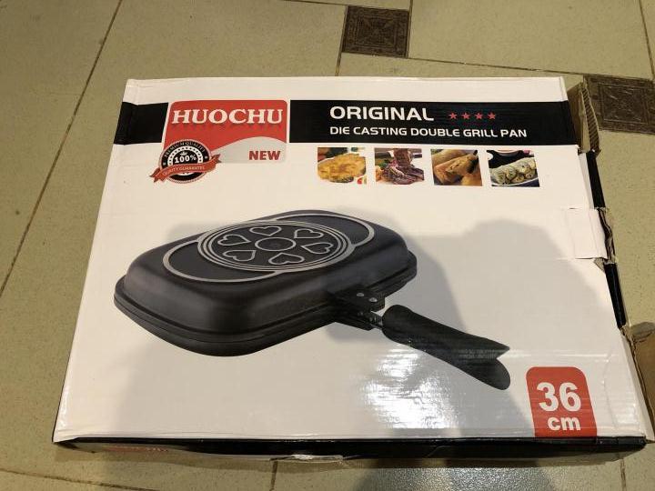 HUOCHU - Poele à cuisson Double face - Suface 36cm