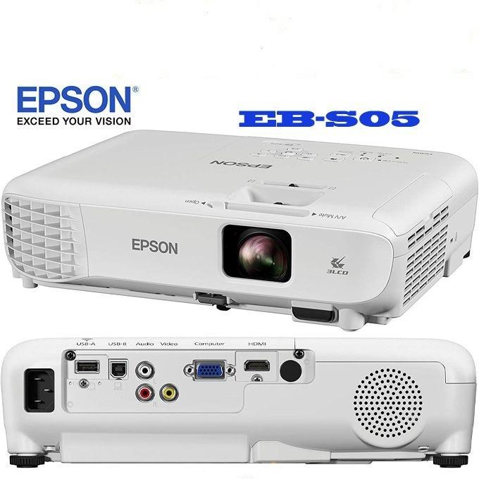 Epson Projecteur EB-S05 SVGA Vidéoprojecteur-Technologie 3LCD -Neuf 1 An Garantie