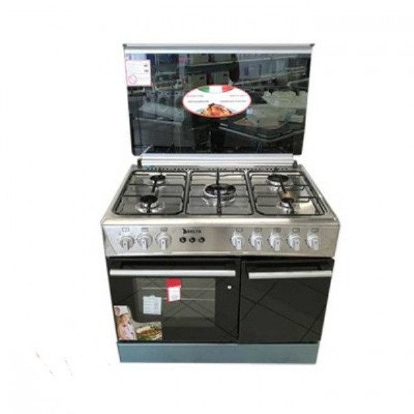 DELTA - Cuisinière 5 Foyers - Inox - Dimensions 60x90cm - Neuf 6Mois Garante