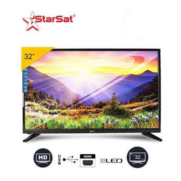"""STARSAT 32"""" -TV LED - 32LEST2 - HD - Décodeur Intégré - Noir - 1An Garantie"""